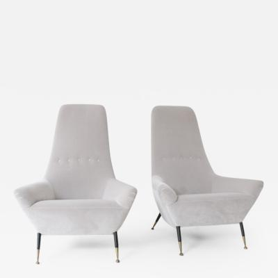 Arflex Pair of High Backed Armchairs