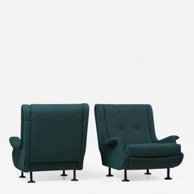 Arflex Pair of Marco Zanuso Armchairs for Arflex Italy 1960s