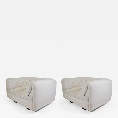 Arflex Pair of Super Comfortable Lounge Chairs by Arflex