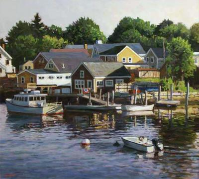 Argosy Gallery Scott Moore Ebbing Tide oil on canvas