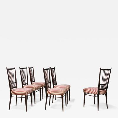 Arredamento Borsani Six MidCentury chairs by Borsani with original certificate published 1950s