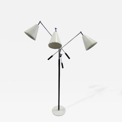 Arredoluce 1960s Iconic Arredoluce Triennale Three Arm Articulating Floor Lamp