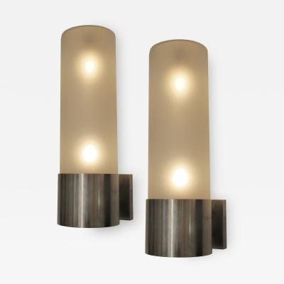 Arredoluce Pair of Monumental Wall Lights