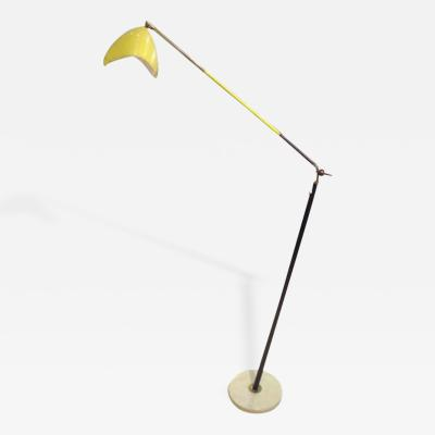 Arredoluce Sculptural Floor Lamp in Lacquer and Gilt Brass in the Style of Arredoluce