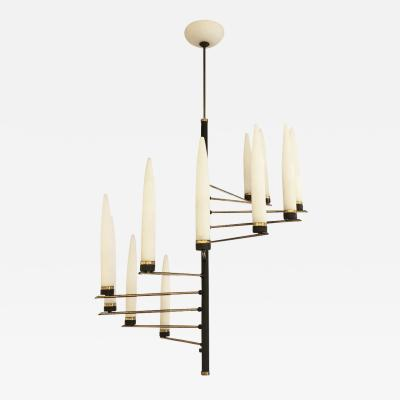 Arredoluce Spiral Chandelier Attributed to Arredoluce Italy 1960s