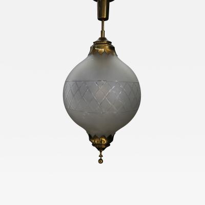 Arredoluce pendant chandelier of arredoluce late 40s