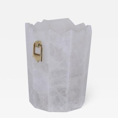 Arriau Bucket For Champagne Iceberg in Rock Crystal and gilted brass by Arriau
