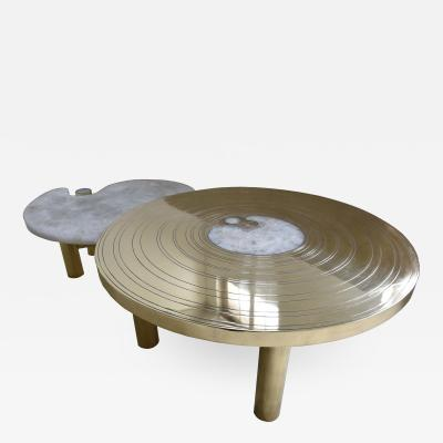 Arriau Coffee Table Birth by Arriau in Rock Crystal and Brass