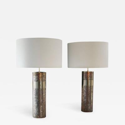 Arriau Round Etched Brass Table Lamp patinated Model Aban by Arriau