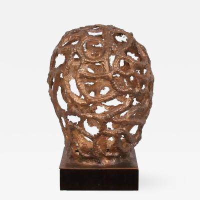 Arriau Table Lamp Sculpture in Bronze Synapse