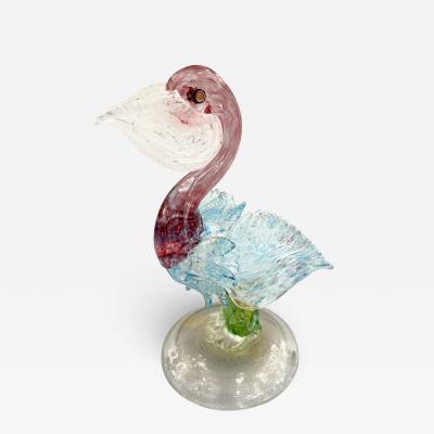 Arte Vetraria Muranese A V E M A Ve M AVeM Murano Glass Pellican by Avem