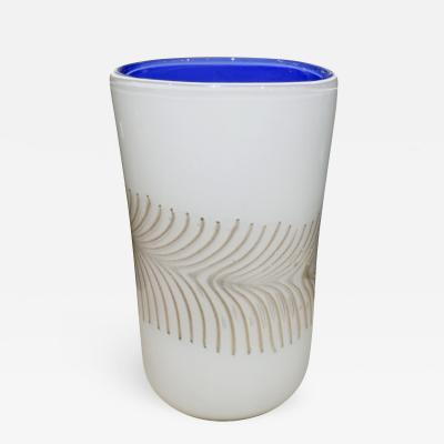Arte Vetraria Muranese A V E M Hand Blown Vase with Avventurine 1950s
