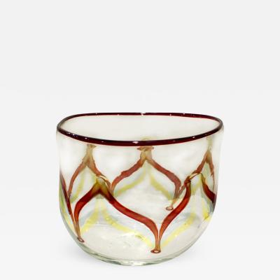 Arte Vetraria Muranese A V E M Vase with Multi Colored Rod Decoration 1950s