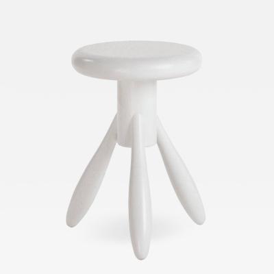 Artek Authentic Baby Rocket Stool in Oak with White Lacquer by Eero Aarino Artek