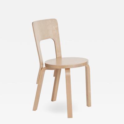 Artek Authentic Chair 66 in Birch by Alvar Aalto Artek