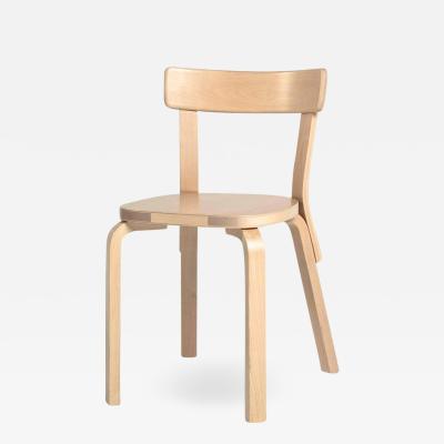 Artek Authentic Chair 69 in Birch by Alvar Aalto Artek