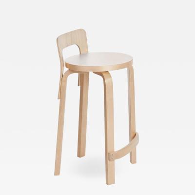 Artek Authentic High Chair K65 in Birch with Laminate Seat by Alvar Aalto Artek