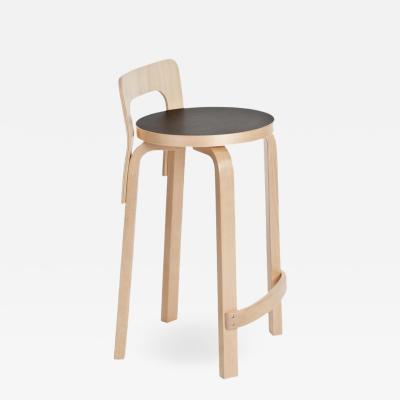 Artek Authentic High Chair K65 in Birch with Linoleum Seat by Alvar Aalto Artek