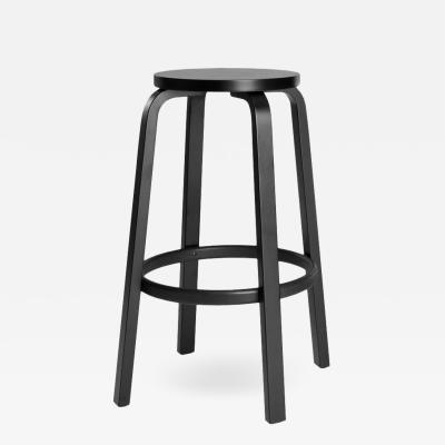 Artek Authentic High Stool 64 Bar Stool in Black by Alvar Aalto Artek