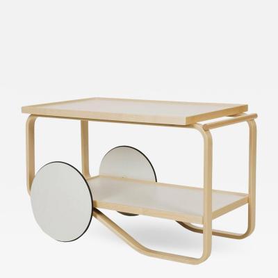 Artek Authentic Tea Trolley 901 in Birch by Alvar Aalto Artek
