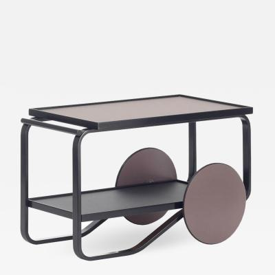 Artek Authentic Tea Trolley 901 in Black Birch by Alvar Aalto Hella Jongerius Artek