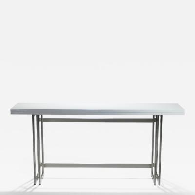 Artelano Italian Mid century white lacquer extending console table 1970s