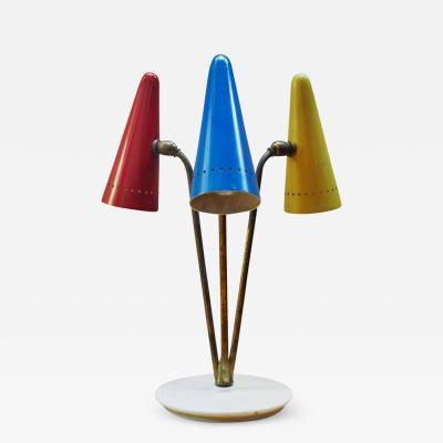 Arteluce 1950s Arteluce Tricolore Table Lamp