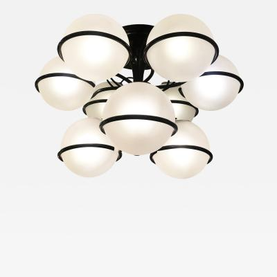 Arteluce Arteluce Chandelier Model 2042 9 by Gino Sarfatti