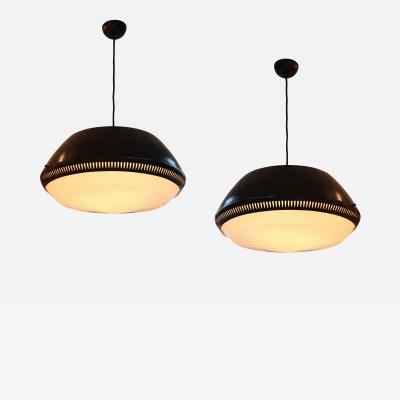 Arteluce Pair of Monumental Ceiling Lights
