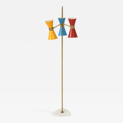 Arteluce Three lights floor lamp by Arteluce Italy 1950s