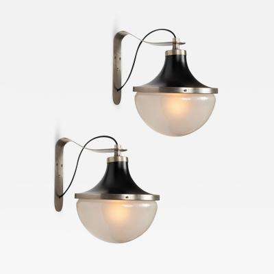 Artemide Pair of 1960s Sergio Mazza Pi Wall Lights for Artemide