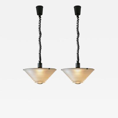 Artemide Pair of Egina Pendant Lamps by Angelo Mangiarotti for Artemide