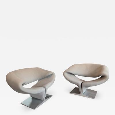 Artifort Pierre Paulin for Artifort Ribbon Lounge Chairs