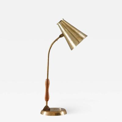 Asea ASEA Attributed Scandinavian Midcentury Desk Lamp in Brass