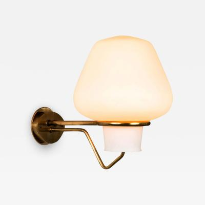 Asea Large 1950s Gunnar Asplund JH 813 Brass and Glass Sconce for ASEA