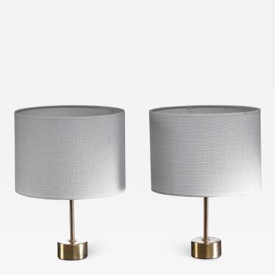 Asea Pair of ASEA brass table lamps Sweden 1960s