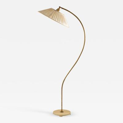Asea Swedish Modern Midcentury Floor Lamp in Brass by ASEA 1940s