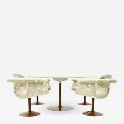 Asko Rare Dining Room Set by Eero Aarnio for Asko Finland 1970s