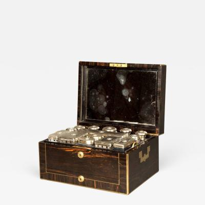 Asprey Antique Victorian Coromandel and Brass Bound Dressing Case by Asprey