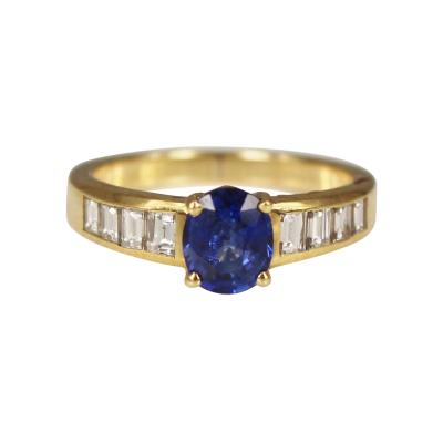 Asprey Asprey Sapphire and Diamond Ring