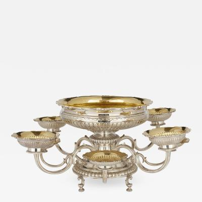 Asprey Asprey vermeil and silver table centrepiece