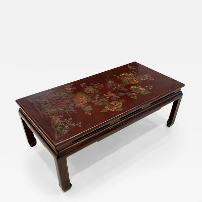 Atelier Midavaine Paris JAPANNED LACQUERED LOW TABLE BY ATELIER MIDAVAINE