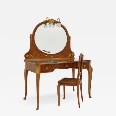 Au Gros Ch ne Antique Parisian Neoclassical Style Dressing Table Set by Au Gros Ch ne