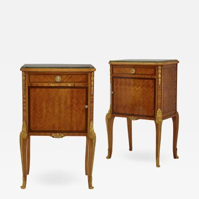 Au Gros Ch ne Pair of Neoclassical Style Bedside Cabinets Retailed by Au Gros Ch ne