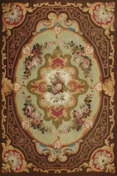 Aubusson 19th Century Handwoven Antique Aubusson Rug