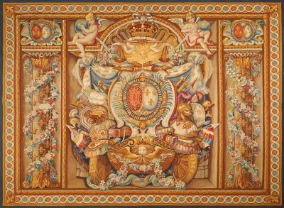 Aubusson 19th Century antique tapestry from Aubusson