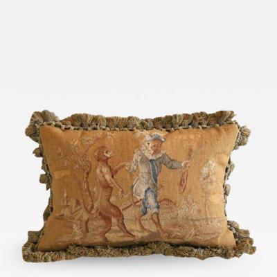 Aubusson Dancing Monkeys Aubusson Pillow
