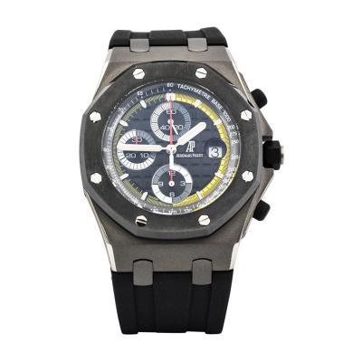 Audemars Piguet Audemars Piguet Titanium Octagonal Case Black Dial Offshore Automatic Wristwatch