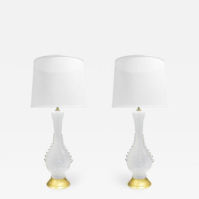 Aureliano Toso Aureliano Toso Pair Of Exquisite Hand Blown Table Lamps 1950s
