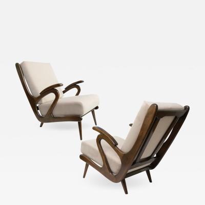 B Spuij s Mid Century Modern B Spuijs Carved Lounge Chairs Netherland